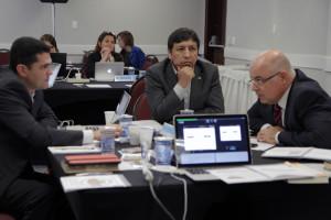 Pastores Everon Donato, Edison Choque y Almir Marroni durante el encuentro.