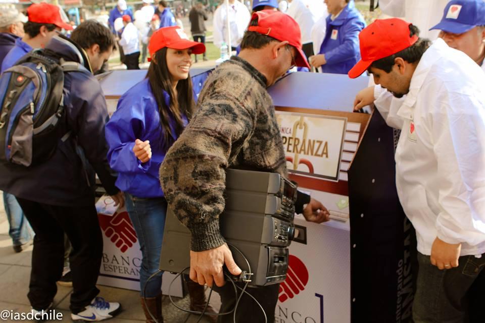La creatividad marcó una de las acciones en la capital del Chile