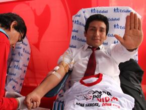 Alcalde felicita campaña de donación de sangre Vida por Vidas