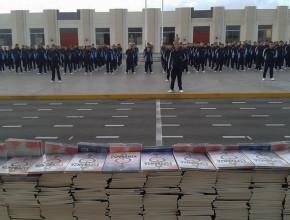 Alumnos y Militares del histórico colegio militar Leoncio Prado en Perú reciben La Única Esperanza2