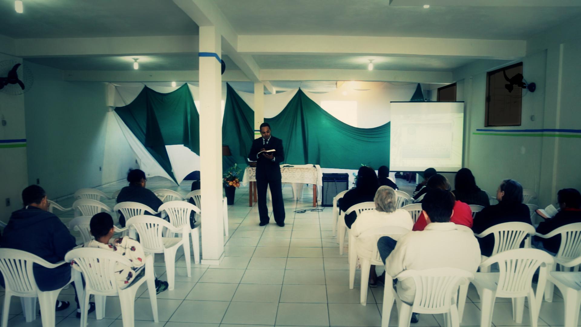 Evangelismo em Bicas, ciudad a aproximadamente a 43 kilómetros de Juiz de Fora. La próxima fecha de evangelismo está prevista para noviembre.
