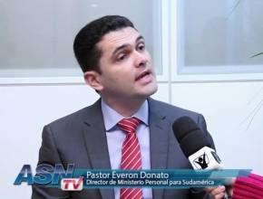 Everon Donato, líder de Ministerio Personal para la Iglesia Adventista de ocho países de Sudamérica, en entrevista para la Agencia Sudamericana Adventista.