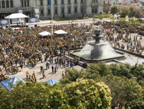 Plaza nacional recibió a 6.300 personas para el programa que dio lugar en la capital del país.