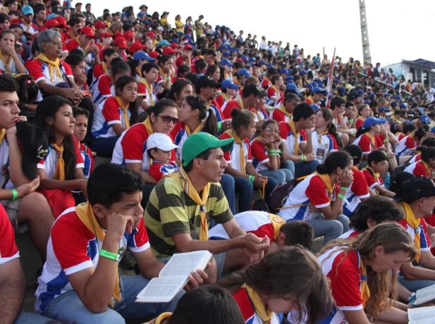 Conquistadores paraguayos participando de las actividades