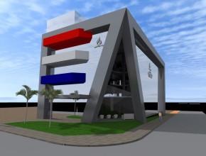 Así sería la futura sede de la Iglesia Adventista en Paraguay.