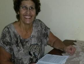 Contacto de Lúcia Helena con la lección fue muy importante para fortalecer seu conocimiento de la Biblia.