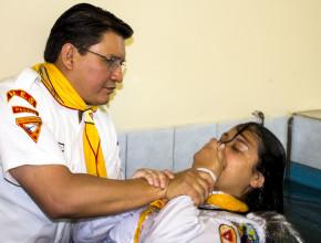 Brenda Palomino, joven que entregó su vida a Dios, luego de conocerle por medio del Club de Conquistadores Orión.