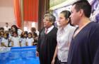 Eileen Carolina y Pablo Diego en lo bautismo