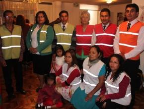 """Cada sábado 40 personas se congregan en el templo """"El Ejercito"""" en Quito - Ecuador, 09 de ellos conforman la brigada de seguridad y prevención frente a las emergencias"""