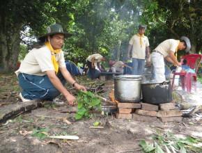 Pastores en el campamento  de La Arboleda (MOB)