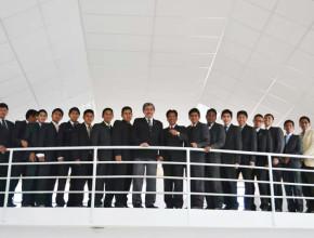Alumnos del cuarto año de teologia reunidos