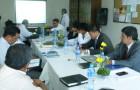 Líderes de la Misión del Oriente Boliviano en la reunión de planificación