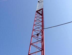 Torre instalada en Santa Ana
