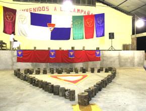 El lugar de las presentaciones del sexto Campori en Villa Tunari