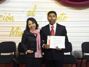 Pr. Severino Laura, pastor en el distrito de Putina, Puno.