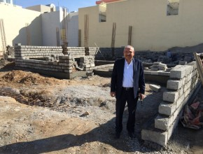 George Shamoun, leader of the Adventist Church in Iraq, visiting the construction site of an Adventist church in Erbil, Iraq. Credit: MENA Union.
