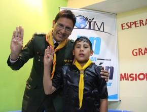"""Alan fue bautizado en la Iglesia """"Millotingo"""", Huancayo."""