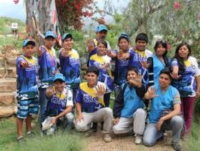 Uno de los grupos unidos para empezar el trabajo de voluntariado en Cochabamba, Bolivia.