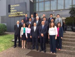 Líderes de la Educación Adventista de ocho países sudamericanos.