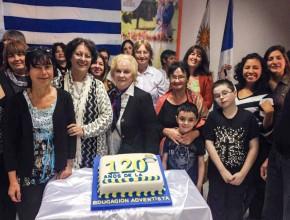 En total estuvieran presentes 76 personas acompañando la programación en Uruguay