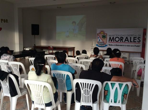 Niños desarrollan Semana Santa en auditorio municipal de Morales2