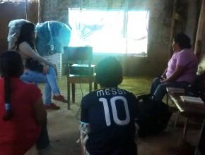 Maribel prestó su casa por quince días. Conoció a Dios y empezó a estudiar el  curso bíblico.
