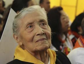 Nercida de Ruiz, con más de 90 años es la pionera del Club de Conquistadores en Sudamérica.