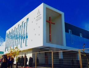 Nuevo templo adventista central de Concepción, Chile. El más grande del país.  (Foto: Abel Núñez)
