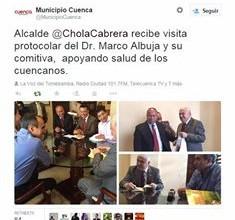 Tweet del alcalde de Cuenca apoyando la campaña.
