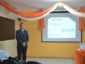 Pr. Augusto Martinez, Secretario de la MES, mencionó sobre el crecimiento de la iglesia.