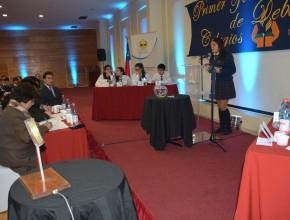 Hora del debate en e l Primer Torneo Nacional de Debates de Colegios Adventistas.