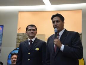 Pr. Frabricio Leao junto al Pr. Ricardo Peñafiel, Departamental de Jóvenes para la MES